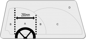 Picture of windscreen damage zones