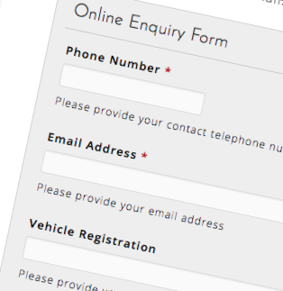 Windscreen online enquiry form